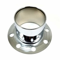 Stainless Polished Wheel Center Hub Cap Derby Open-ended 8 Od 4 1/4 Height
