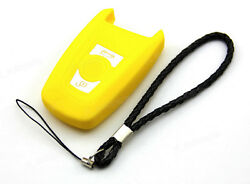 Yellow Silicone Case Cover Fit For BMW 5 7 Series Remote Smart Key 3 Buttons B5Y