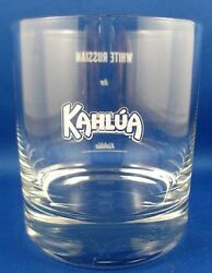 Kahlua White Russian Cocktail Glass Vg Man Cave Bar Advertising Fun Collectable