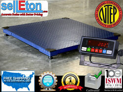New Ntep 2500 Lb X .5 Lb 5and039x7and039 60 X 84 Floor Scale /pallet Scale With Ind.