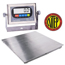 New Ntep 36x36 3and039x3and039 Floor Scale | Pallet Scale Stainless Steel / 5000 X 1lb
