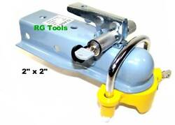 2 X 2 Tongue Trailer Hitch Ball Coupler With Hitch Lock And Coupler Lock Set