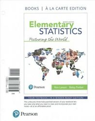 Elementary Statistics Picturing The World Paperback By Larson Ron Farber...