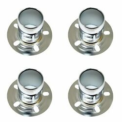 4x Stainless Polished Wheel Center Hub Caps Derby Open-ended 6 5/8 Od 4 Height