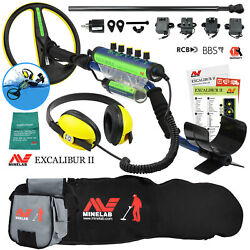 Minelab Excalibur Ii 1000 Waterproof Detector W/ Padded Carry Bag And Finds Pouch