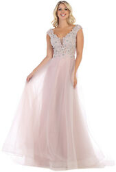DESIGNER CAP SLEEVE SWEET 16 PAGEANT PROM QUEEN DRESS RED CARPET EVENING GOWN $169.99