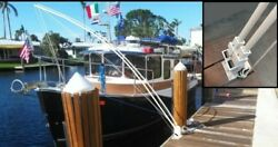 Mooring Whips For Large Boats 35' To 65' Dual System 4 - 14' X 1 Solid Poles.