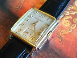 Antique Girard Perregaux 10k Gold Filled 1950and039s Watch Roots Of Vintage 1945