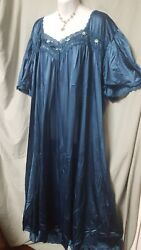 Comfort Choice ANKLE LENGTH DARK TEAL NYLON  NIGHTGOWN  SIZE LARGE GIFT 50