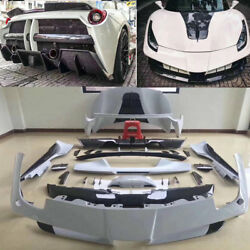 FRP+ Carbon fiber Car bodykit for Ferrari 488 GTB SP to Misha body kits 15-2018