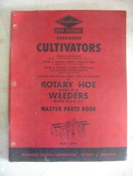 1949 Original Ford Dearborn Cultivators Rotary Hoes Weeders Master Parts Book