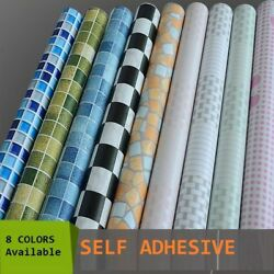 Mosaic Tile Self Adhesive Peel & Stick Contact Paper Oil Waterproof Wallpaper