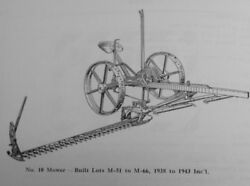 New Idea 10 10a 20 30 Ground Driven Sickle Mower Parts Manual Horse Drawn And More
