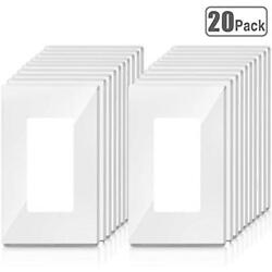 20 Pack Newly-Launched Screwless Wall Plates Outlet Covers GFCI USB Decor PC
