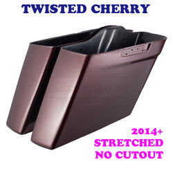 Twisted Cherry No Cutout Extended Saddlebag Bottom For 14-20 Street Road Electra