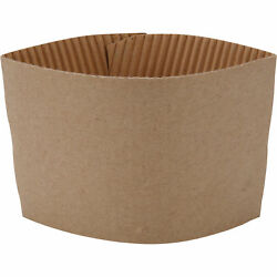 100 ct. 10 20 Oz. Eco Disposable Brown Coffee Cup Sleeves Jacket Clutch $10.45