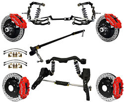 Ridetech Coilover And Steering System And Wilwood Disc Brake Kit13 Drillred63-67