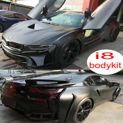 FRP Auto Car Bodykit I8 Front Bumper + Wheel Fender for BMW I8 Body Kits 14-2019