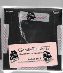 Factory Sealed Game Of Thrones Season 7 Archive Box Rittenhouse