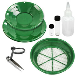7 Piece Prospecting Mining Panning Kit Classifier And 2 Mesh Gold Sifting Pans