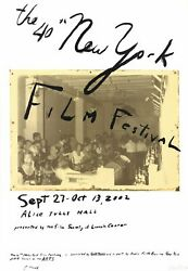 Julian Schnabel The 40th New York Film Festival Signed 52 X 36 Mixed Media