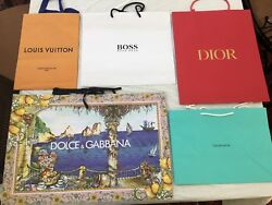 Designer Stores Paper Shopping Bags FIVE NEW