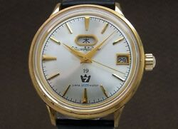 Citizen Auto Dater Seven Day Date 19 Jewels Automatic Mens Watch Gold Plate Case