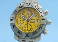 SECTOR Diving Team 1000 Chronograph Yellow Dial Date Automatic