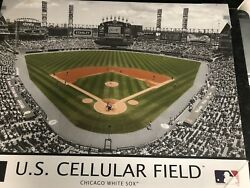 Us Cellular Field Chicago White Sox Framed Photo On Canvas Picture 21x27 New