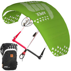 Hq4 Apex 5.5m Depower Foil Kite W Hq One Control Bar And Lines Kiteboarding Snow
