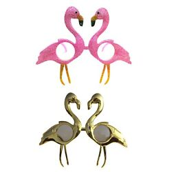 Pink Glitter & Metallic Gold Sunglasses Festival Party Shades Flamingo (2 Pack)
