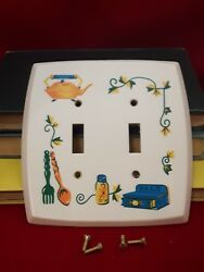 VINTAGE RUSTIC KITCHEN LIGHT SWITCH COVER WALL PLATE DECOR MCM