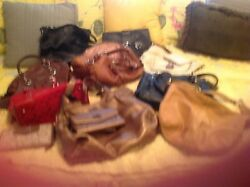 Collection of coach bags and wallets