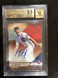 2018 Topps Now Road To Opening Day Autographs Red Kris Bryant Bgs 9.5 Pop 1