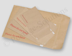 Hard Card Board Backed - Please Do Not Bend - Envelopes Manilla Brown - All Size