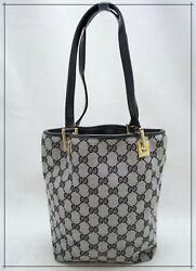 GUCCI Monogram Canvas Bucket Style Made in Italy Women's Bag