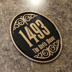Personalized Haunted Mansion Inspired Address Sign / Plaque W/ Family Name