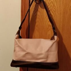 Latico Pink And Brown Leather Hobo