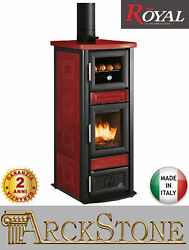Stove Furnace Space Heater Wood Ceramics Royal Palazzetti Stuba Oven Red 71 Kw