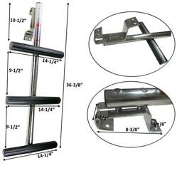 Pactrade Marine Boat 3 Steps Dive Ladder Stainless Steel W/ Non-slip Thread