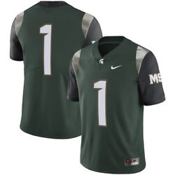 Nike Michigan State Spartans 1 Limited Football Jersey Stitched Small Nwt 135