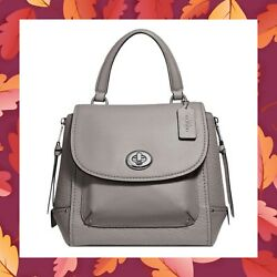 COACH Faye Backpack Purse Convertible Satchel Crossbody Bag F30525 HEATHER GREY