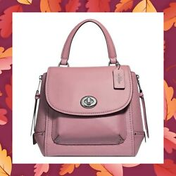 COACH Faye Backpack Purse Convertible Satchel Crossbody Bag F30525 DUSTY ROSE
