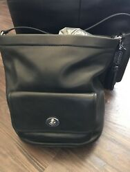 Coach Legacy Archive Black Leather Bucket bag #21193 MSRP $398