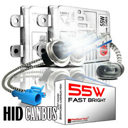 55w Heavy Duty Fast Bright Canbus Ac Hid Conversion Kit H1 H3 H7 H8 H11 9006 Hb4