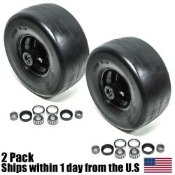 2pk Front Solid Caster Wheel Tire Flat Free 13x6.5-6 Fits Toro Z Master 633971