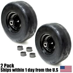 2 Lawn Mower Front Solid Tire Rim 11x4x5 11x4-5 For Wright Stander 72460026