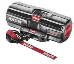 Warn Axon 3500lb Winch With Syn Rope And Mount - 2006-2017 Honda Trx680 Rincon