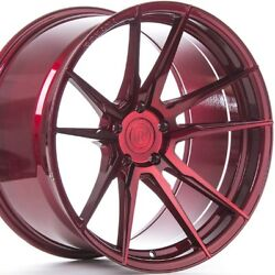 20 Staggered Rohana Rf2 20x9 20x12 Gloss Red Concave Wheels Rims Forged