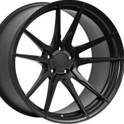 20 Staggered Rohana Rf2 20x10 20x11 Black Concave Wheels Rims Forged